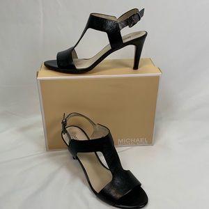 Michael Kors Malia Sandal Sz 8.5 Black Leather